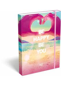 Füzetbox A/4 Happy Vibes Be Happy