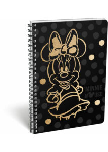 Füzet spirál A/4 kockás exkluzív Minnie Fashion Black