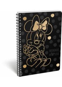 Füzet spirál A/4 vonalas exkluzív Minnie Fashion Black