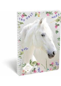 Füzet dupla spirál A/4 kockás Wild Beauty White