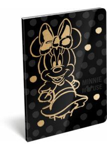 Füzet tűzött A/4 kockás 87-32 exkluzív Minnie Fashion Black