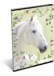 Füzet tűzött A/4 kockás 87-32 Wild Beauty White