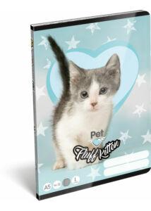 Füzet tűzött A/5 1.o. 14-32 Pet Fluff Kitten