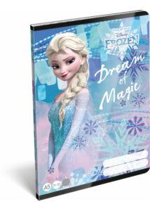 Füzet tűzött A/5 vonalas 21-32 Frozen Magic