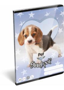 Füzet tűzött A/5 1.o. 14-32 Pet Good Pup