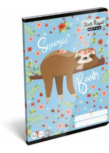 Füzet tűzött A/5 sima 20-32 Lollipop Sloth Royal