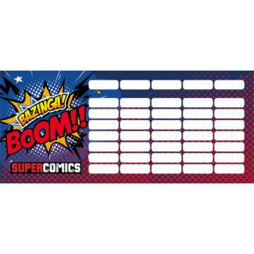 Órarend mini Supercomics Bazinga