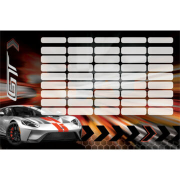 Órarend nagy Ford GT Silver