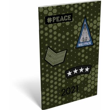 Zsebnaptár tűzött A6 2021 #Peace