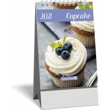 Asztali naptár spirálozott kis képes 2021, Cupcake