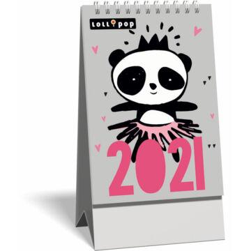 Asztali naptár spirálozott kis képes 2021, Lollipop New Friends