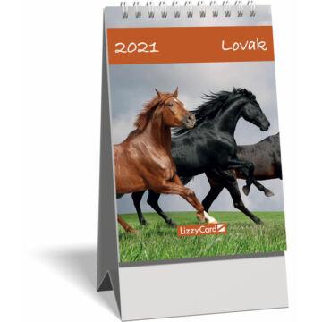 Asztali naptár spirálozott kis képes 2021, Lovak