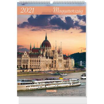 Falinaptár B3 spirál 2021 Magyarország