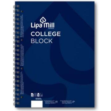 Lipamill College Block A5 Kockás Kék 70lap