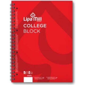 Lipamill College Block A5 Vonalas Piros 70lap