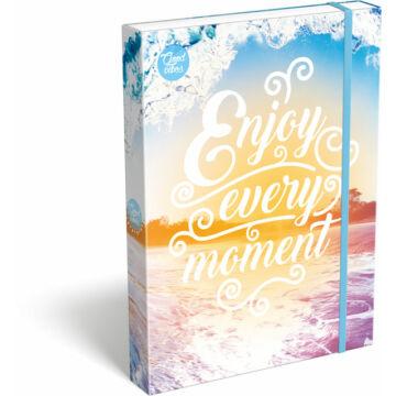 Füzetbox A/4 Good Vibes Enjoy every moment