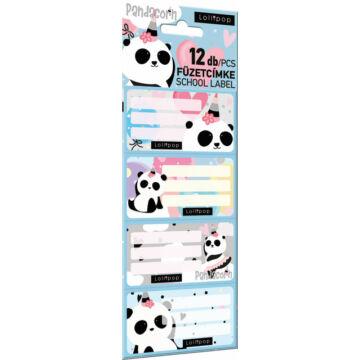 Füzetcímke 12 db-os FSC Lollipop Pandacorn