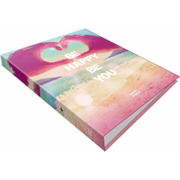 Gyűrűs könyv 2 gyűrűs Happy Vibes Be Happy