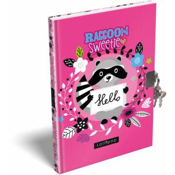 Emlékkönyv keményfedeles A/5 Lollipop Raccoon