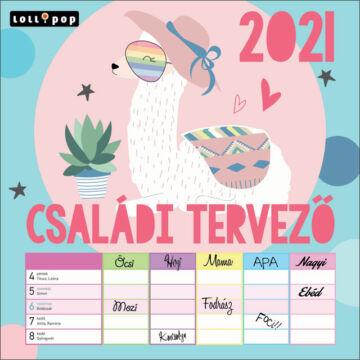 Falinaptár lemez nagy 2021 Lollipop családi tervező