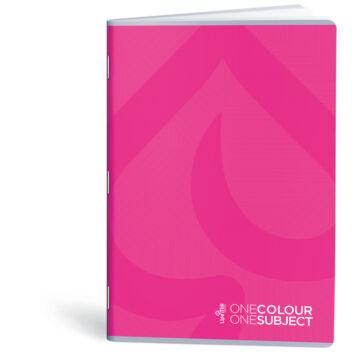 Lipamill Tűzött Füzet A5 Vonalas One Colour-One Subject 40+2 lap pink