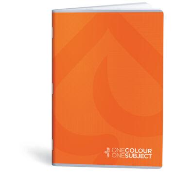 Lipamill Tűzött Füzet A5 Vonalas One Colour-One Subject 40+2 lap narancs