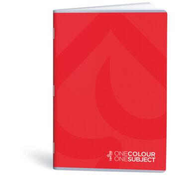 Lipamill Tűzött Füzet A5 Vonalas One Colour-One Subject 40+2 lap piros