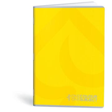 Lipamill Tűzött Füzet A5 Vonalas One Colour-One Subject 40+2 lap sárga