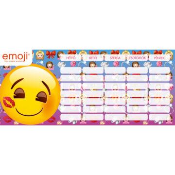 Órarend mini Emoji Girls