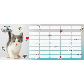 Órarend mini Pet Fluff Kitten