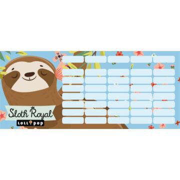 Órarend mini Lollipop Sloth Royal