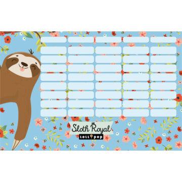 Órarend nagy Lollipop Sloth Royal