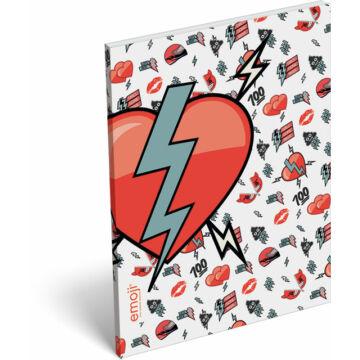 Papírfedeles notesz A/7 emoji Broken Heart