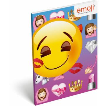 Papírfedeles notesz A7 emoji Girls