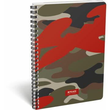 Füzet dupla spirál A/4 kockás FSC #peace Red Label