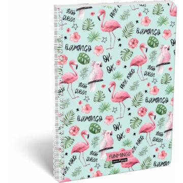 Füzet dupla spirál A/4 vonalas Lollipop Flamingó