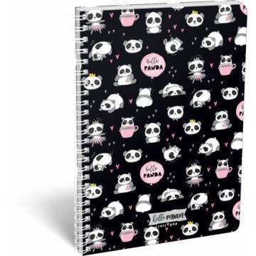Füzet dupla spirál A/4 kockás Lollipop Hello Panda