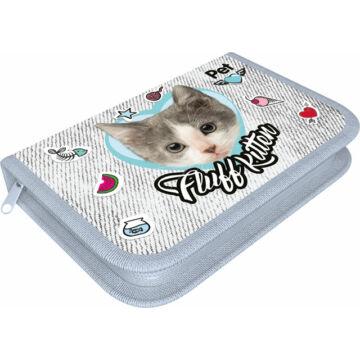Varrott tolltartó textil Pet Fluff Kitten
