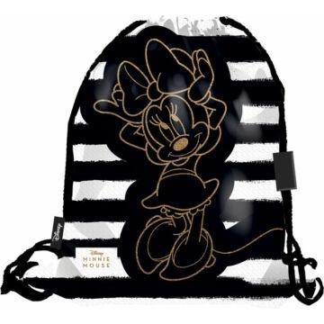 Tornazsák prémium Minnie Fashion Black Stripes