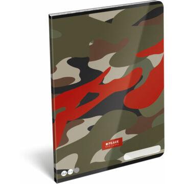 Füzet tűzött A/4 vonalas 81-32 FSC #peace Red Label