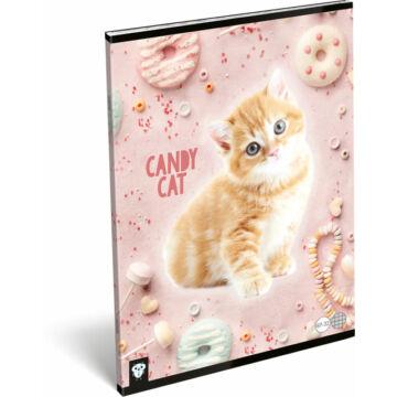 Füzet tűzött A/4 kockás 87-32 Kis Bagoly Candy Cat