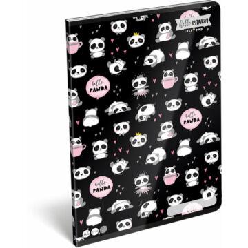 Füzet tűzött A/4 kockás 87-32 Lollipop Hello Panda