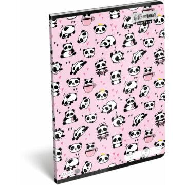Füzet tűzött A/4 vonalas 81-32 Lollipop Hello Panda