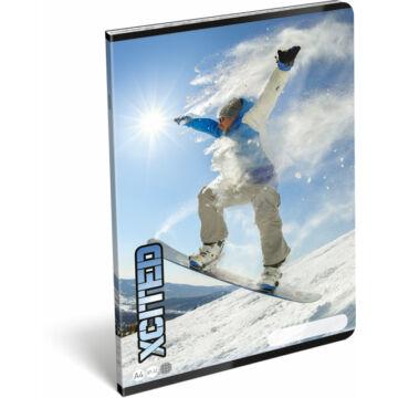 Füzet tűzött A/4 kockás 87-32 X-cited Snowboard