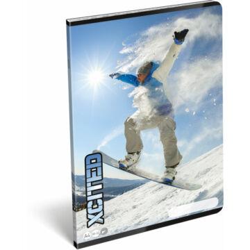 Füzet tűzött A/4 sima 80-32 X-cited Snowboard