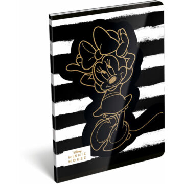 Füzet tűzött A/5 vonalas 21-32 exkluzív Minnie Fashion Black Stripes