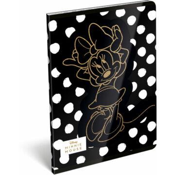 Füzet tűzött A/5 vonalas 21-32 exkluzív Minnie Fashion Black Dot