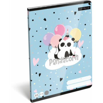 Füzet tűzött A/5 kockás 27-32 FSC Lollipop Pandacorn