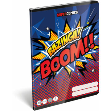 Füzet tűzött A/5 2.o. 16-32 FSC Supercomics Bazinga