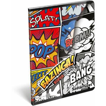 Füzet tűzött A/5 szótár 31-32 FSC Supercomics Bazinga
